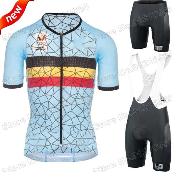 Mua Bộ Áo Thi Đấu Đạp Xe Bỉ 2021 Mới Trang Phục Đạp Xe Đội Tuyển Quốc Gia Bỉ Bộ Áo Sơ Mi Đua Xe Đạp Đường Trường Hàng Xấp Thơ Xe Đạp Leo Núi