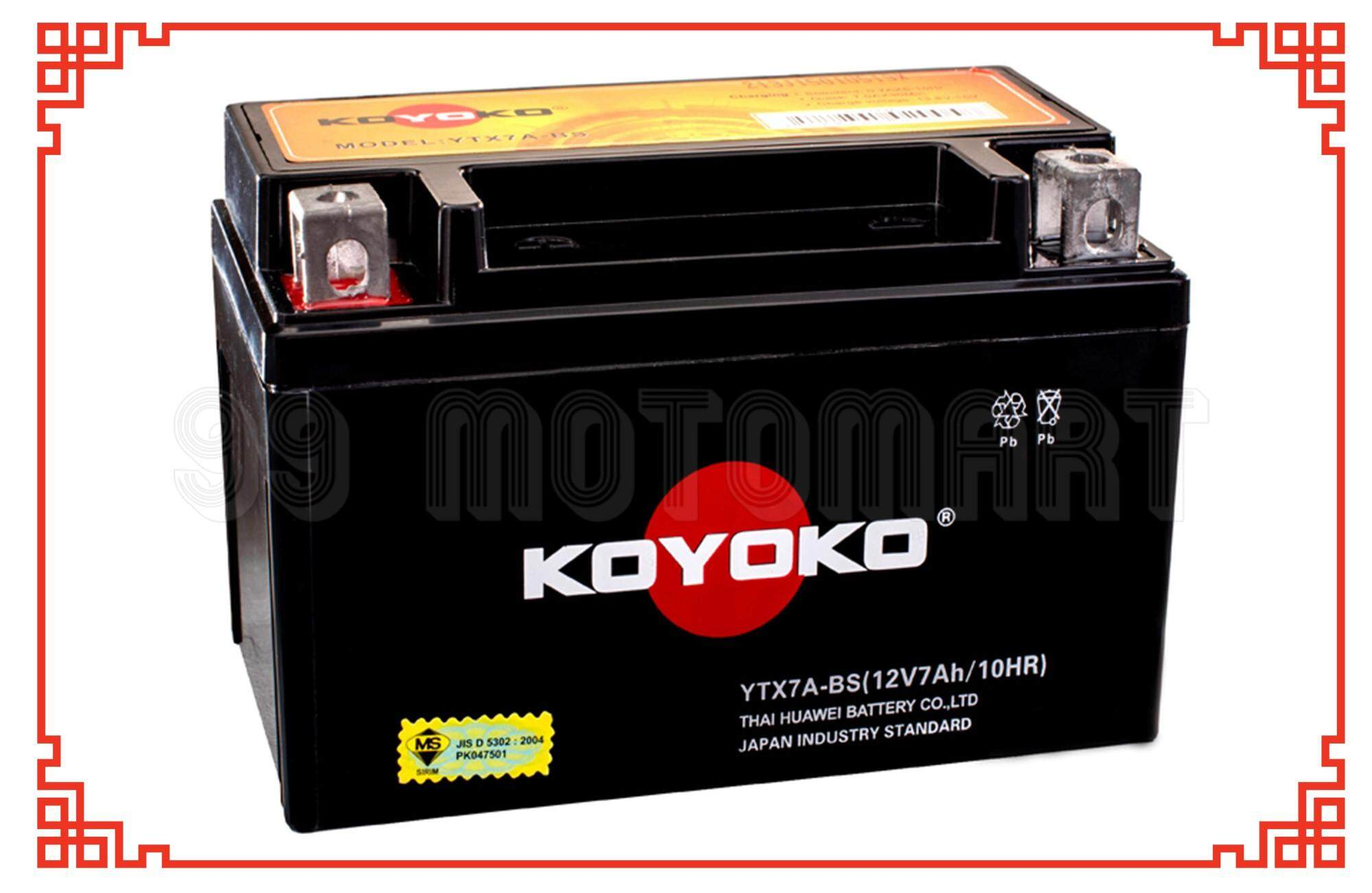 Koyoko Ytx7a-Bs 12v7ah/10hr Motorcycle Battery (sealed) Ytx7a By 99 Motomart.