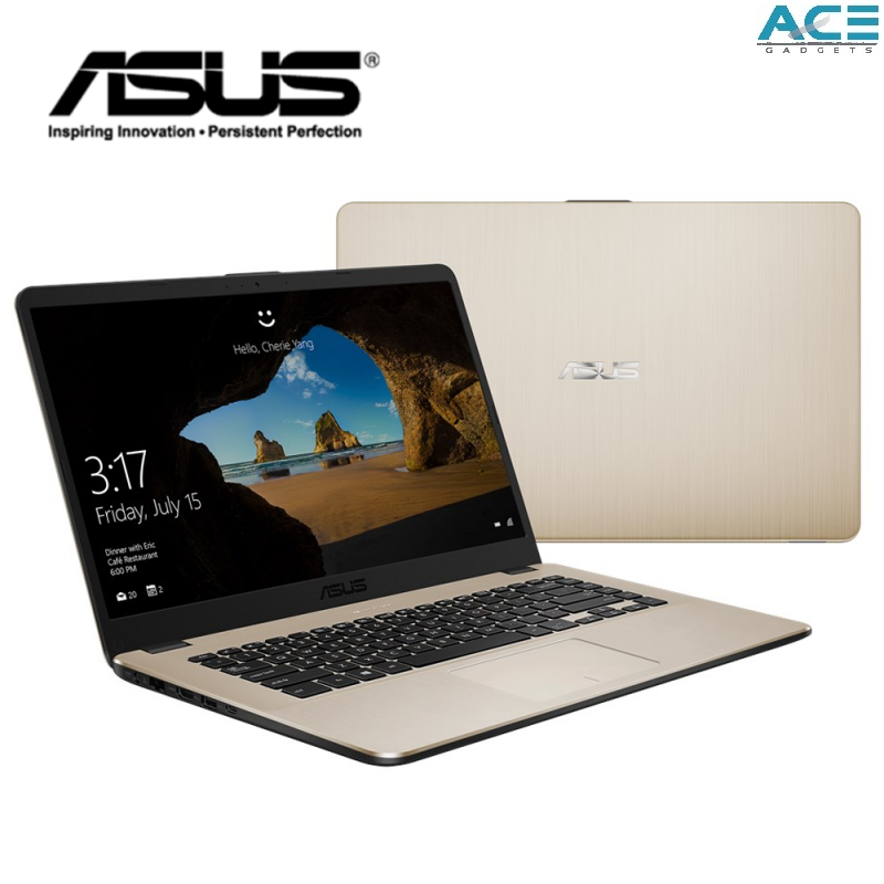 Asus Vivobook A407U-ABV321T / A407U-ABV363T Notebook *Grey/Gold* (i3-8130U/4GB DDR4/1TB HDD/Intel/14 HD/Win10) Malaysia