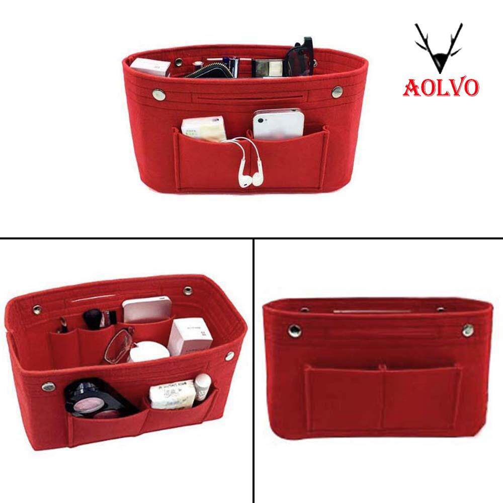 878779cd41a3 Aolvo Felt Insert Handbag Comestic Electronics Organizer Travel Purse Bag  Organiser