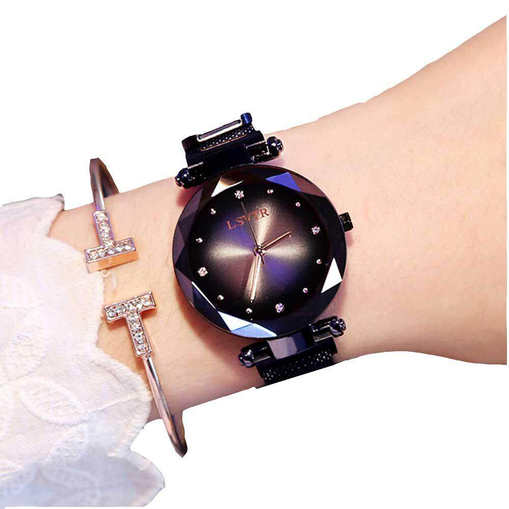 Lightsmile Fashion Ladies Wrist Quartz Watch,starry Sky With Alloy Strap Magnetic Wrist Watches Mesh Band Dial,best Gift For Friend By Lightsmile.