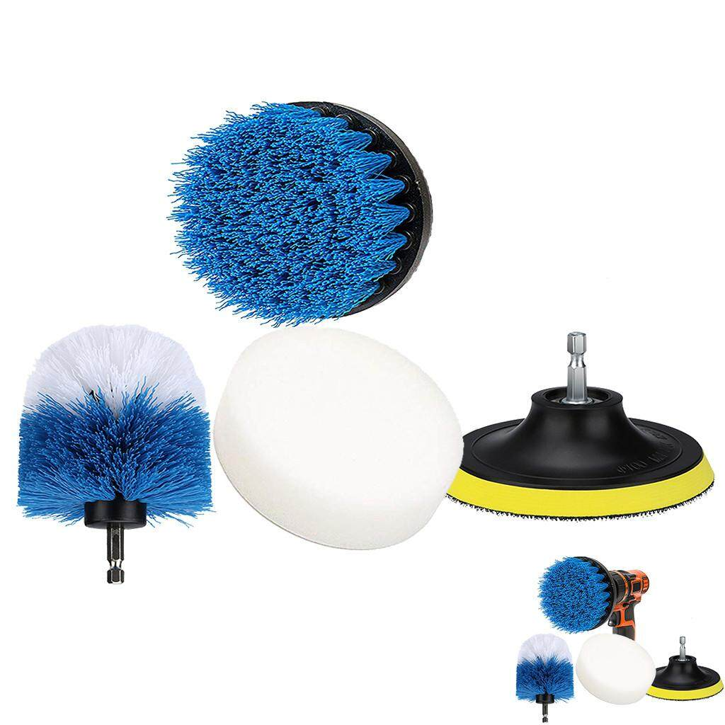 4 Piece Scrub Brush Power Drill Cleaning Brush Tub Cleaner Combo Tool Kit Perfect for Cleaning Grout