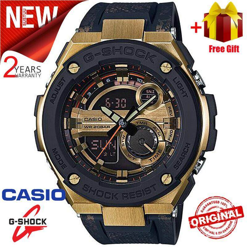 2019 NEW Original Casio G Shock_GST-200CP-9A Men Sport Watch Duo W/Time 200M Water Resistant Shockproof and Waterproof World Time LED Auto Light Wist Sports Watches with 2 Year Warranty GST200/GST-200