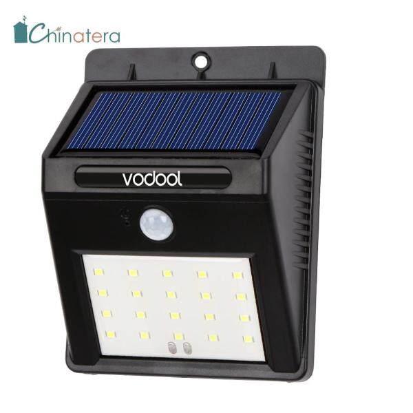 [Chinatera] VODOOL Năng Lượng Mặt Trời Ánh Sáng, 20 Đèn LED Cảm Giác Ánh Sáng, Đèn Tường Vườn Ngoài Trời Chống Nước IP65