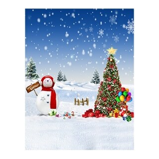 Snowman Snow Gifts Photography Backdrops Photo Backgrounds Christmas Photophone for Photo Studio thumbnail