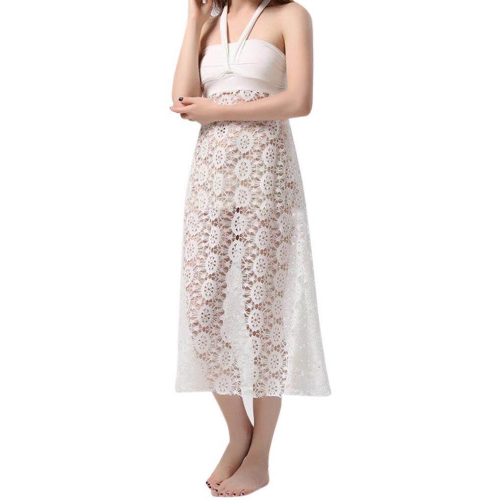 895e92219ae7 Multi Way Women Front Wrap Halter Maxi Dress Backless Sunscreen Bikini  Cover up