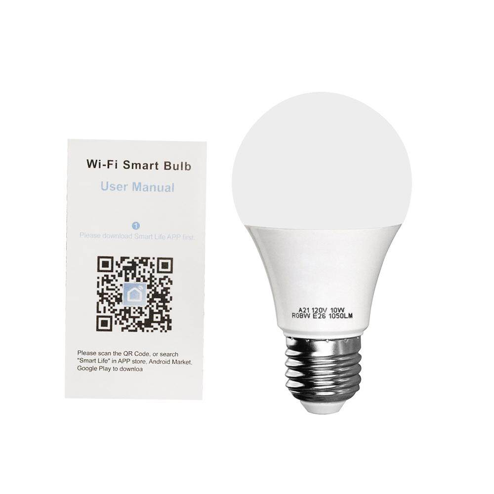 V5 Smart WIFI LE-D Bulb RGB+W LE-D Bulb 11W E27 Dimmable Light Phone Remote Control Group Control Compatible with Alexa Goo-gle Home Tmall Genie Voice Control Light Bulb