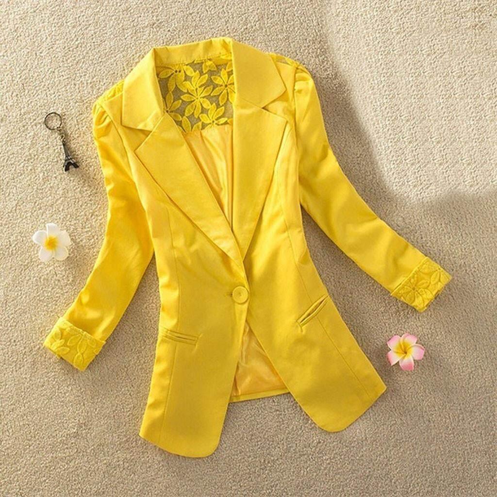 Fashion Womens Long Sleeve Lace Suit Jacket Casual Jacket Jacket Autumn Winter Jacket