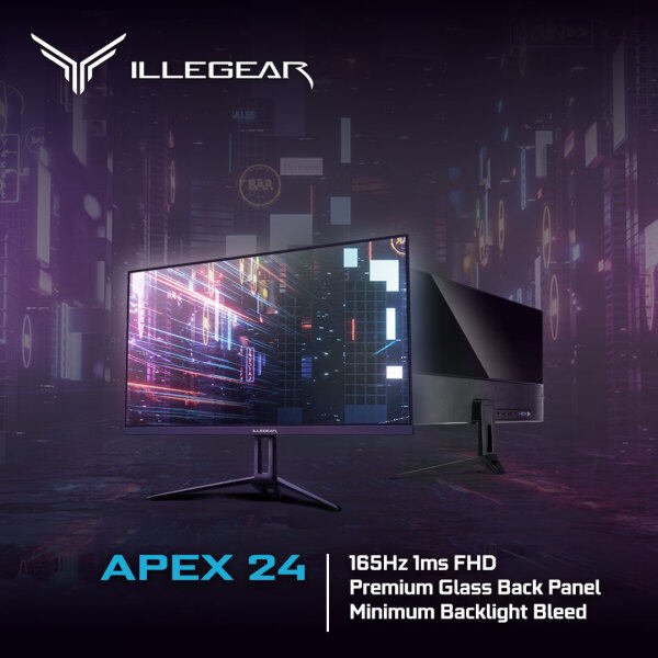 ILLEGEAR APEX 24 (23.8 FHD, 144Hz-165Hz, 3 Year Carry-in Warranty & Lifetime Technical Support) Malaysia