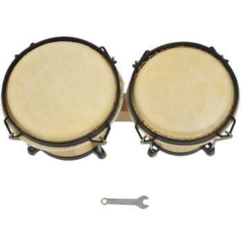 Wooden African Bongos Drum Percussion Musical Instruments Early Learning Educational Toys for Percussion Instruments Parts