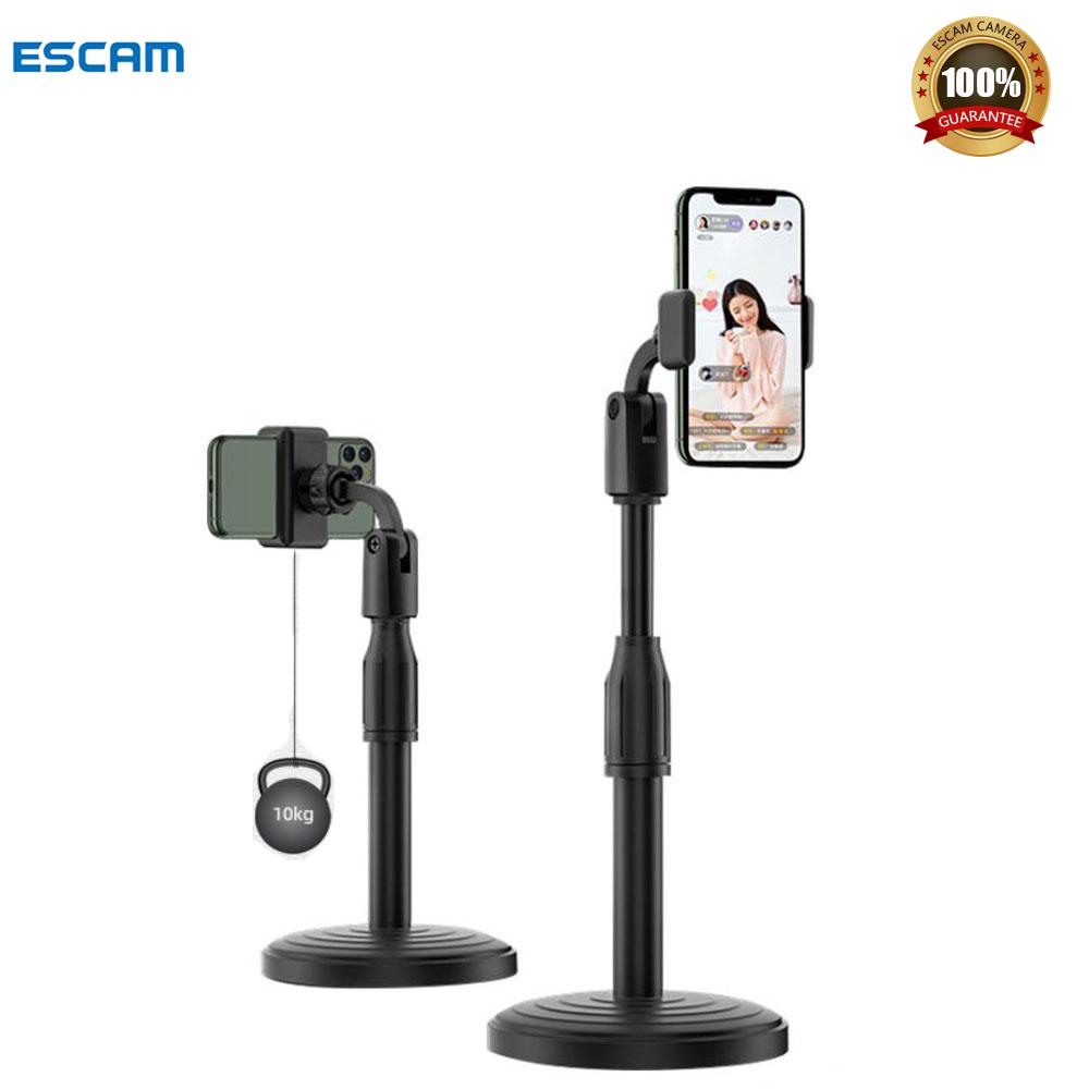 Giá đỡ điện thoại để bàn ESCAM GAZ-28S có thể điều chỉnh góc 360 độ cho iPhone 7 plus/Samsung A51/Oppo – INTL