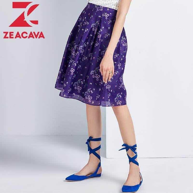 ZEACAVA  Đàn bà 2020 Thời Trang Mới Mùa Hè Phụ Nữ Váy Hoa Bó Sát Midi B62133