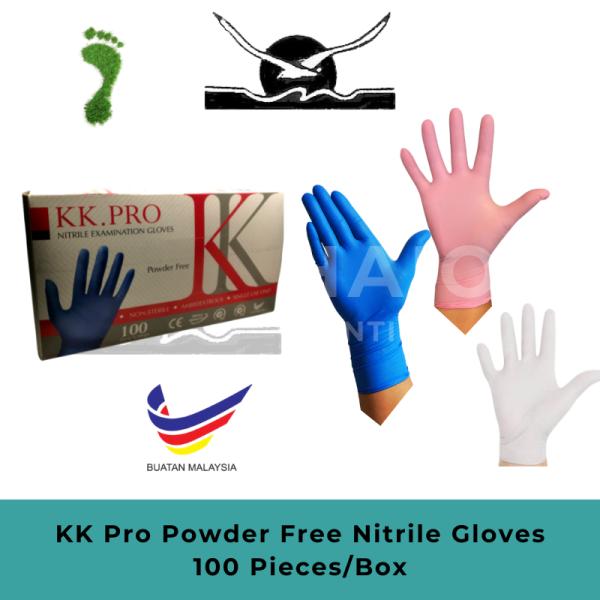 KK Pro tebal sarung tangan pakai sarung tangan nitril bersaiz s m l