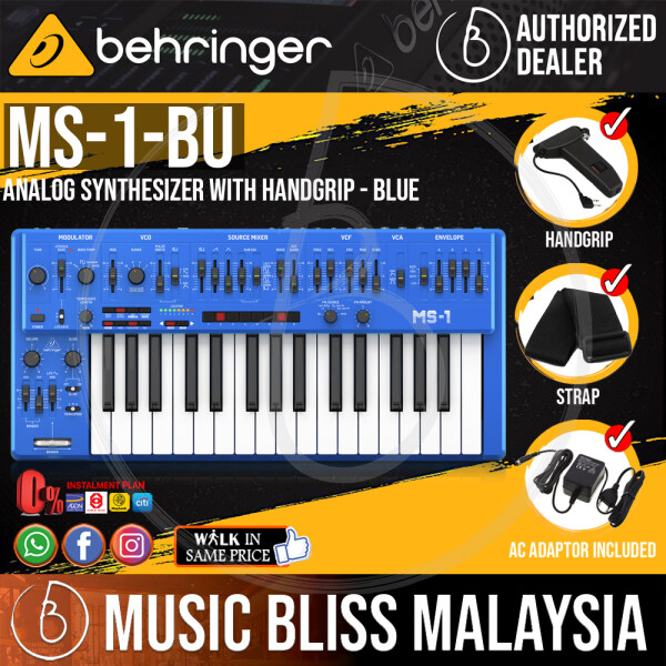 Behringer MS-1-BU Analog Synthesizer with Handgrip - Blue (MS-1 / MS1) *Everyday Low Prices Promotion* Malaysia