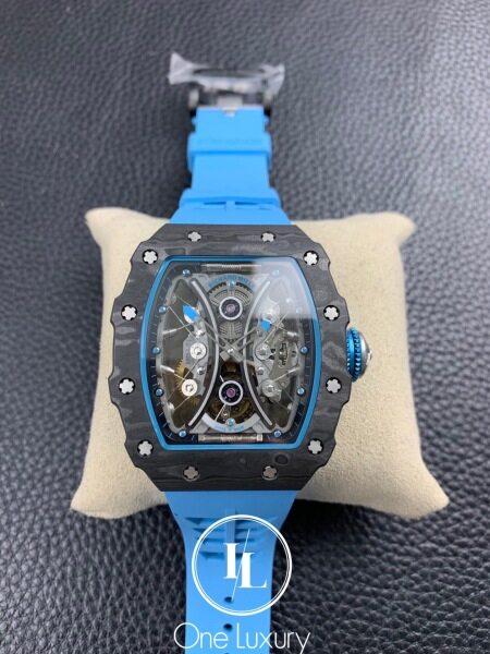 [ONE LUXURY] RM53-01 PABLO MAC DONOUGH REAL TOURBILLON ON BLUE RUBBER STRAP Malaysia