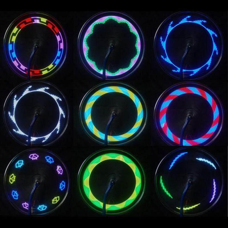 Phân phối 14 LED Đi Xe Đạp Xe Máy Xe Đạp Bánh Xe Máy Tín Hiệu Đèn Nan Hoa Lốp Xe 30 Thay Đổi