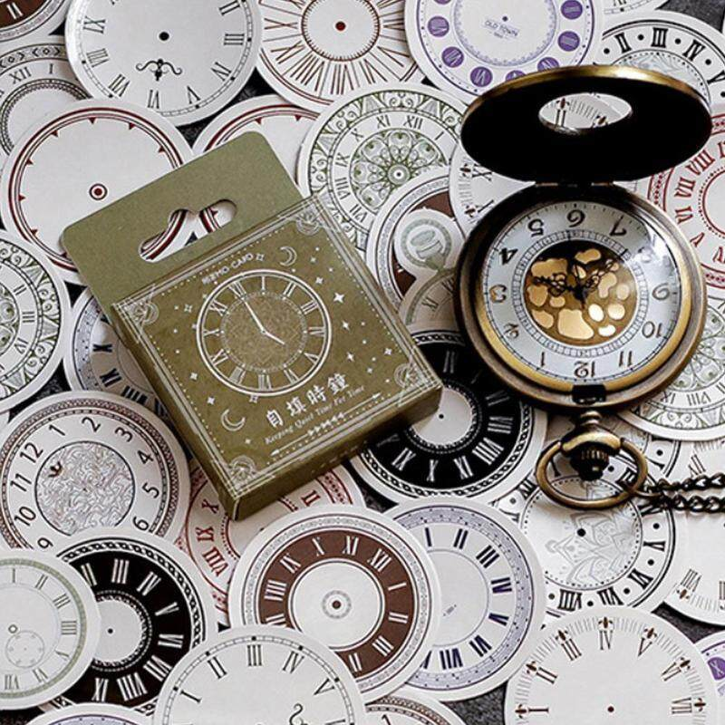 45 Pcs/box Journal Clock European Style Vintage Decorative Stickers Diy Clocks For Scrapbooking Dairy Student Stationery By Happy Sunshine.