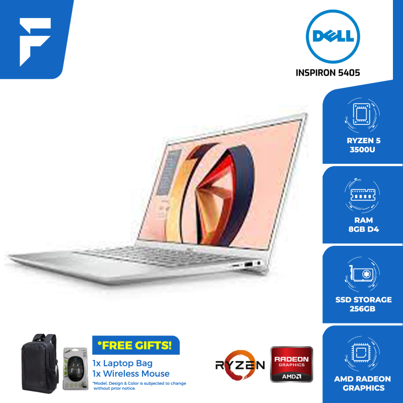 DELL INSPIRON 5405 <SILVER> (FREE BAG & WIRELESS MOUSE) Malaysia