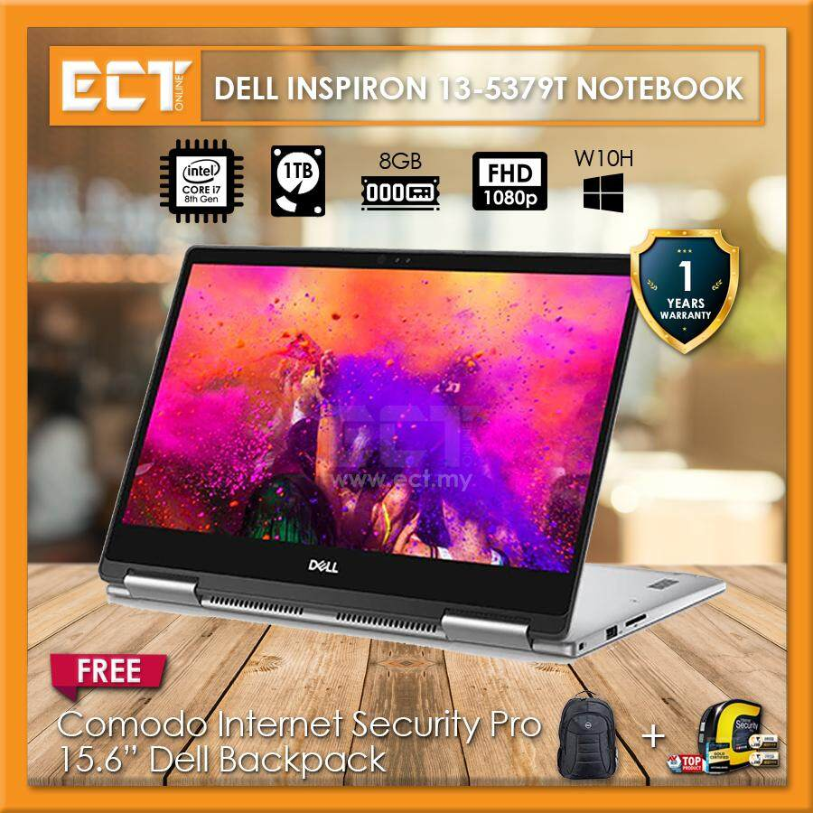 Dell Inspiron 13 5379T-8581SG-W10 13.3 FHD Touch Laptop (i7-8550U 4.0Ghz,1TB,8GB,13.3FHD Touch,W10) Malaysia