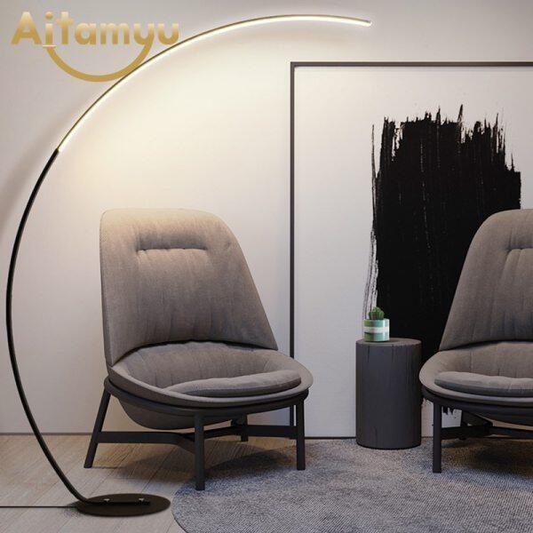 Column Led Floor Lamp Modern Standing Lamp Simple Floor Lamps for Living Room Foyer Beside Lamp 25W Floor Light Fixture