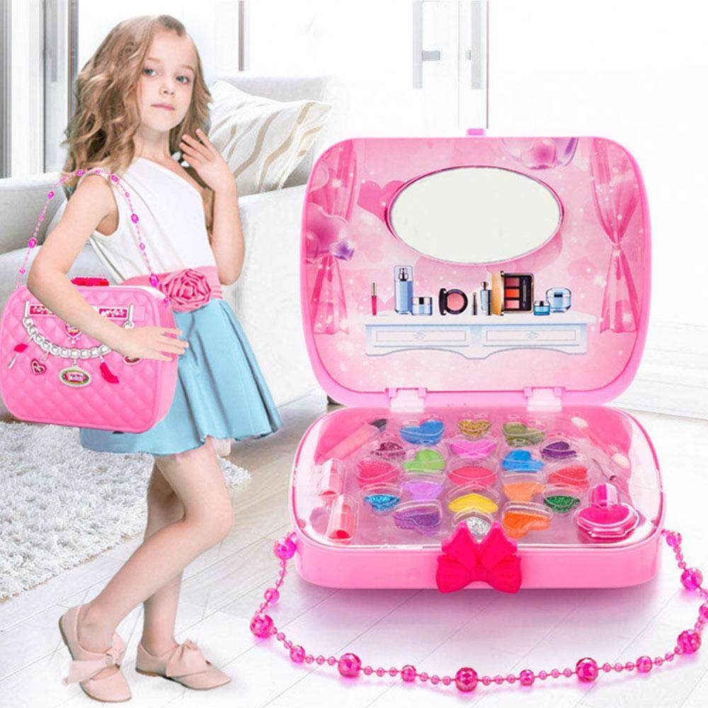 3ca129f6f BuyInBulk Little Girls Make Up Case And Cosmetic Set – Pretend Play Kids  Beauty Salon