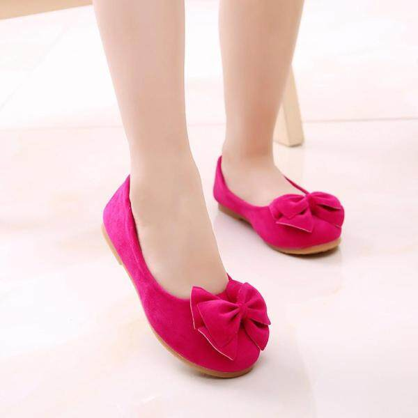 Giá bán Giày Công Chúa Liuyehumall Cho Bé Gái, Giày Nhảy Múa Một Mảnh Thắt Nơ Màu Trơn