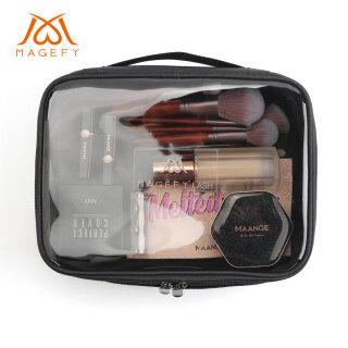 Túi đựng đồ trang điểm mỹ phẩm MAGEFY có khoá kéo tiện dụng khi đi du lịch - INTL thumbnail