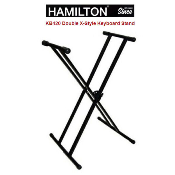 Adjustable Hamilton KB420 Double X-Style Keyboard Stand Malaysia