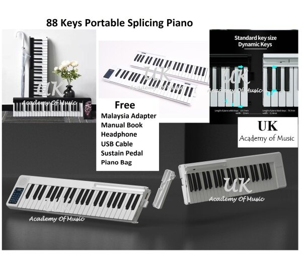 [Rechargeable] UK Portable Splicing 88 Keys PRO Traveler Electronic Piano Keyboard MIDI Malaysia