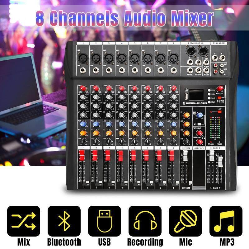 48V Trộn Âm Thanh Với USB Chuyên Nghiệp 8/12 Kênh Bluetooth Phòng Thu DJ Trộn Âm Karaoke Bộ Khuếch Đại Kỹ Thuật Số KTV trộn âm thanh