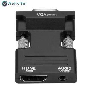 Avivahc Bộ Chuyển Đổi Đầu Đực HDMI Cái Sang VGA Với Cáp Âm Thanh Hỗ Trợ Đầu Ra Tín Hiệu 1080P Hộp Set-Top Cho Máy Tính thumbnail