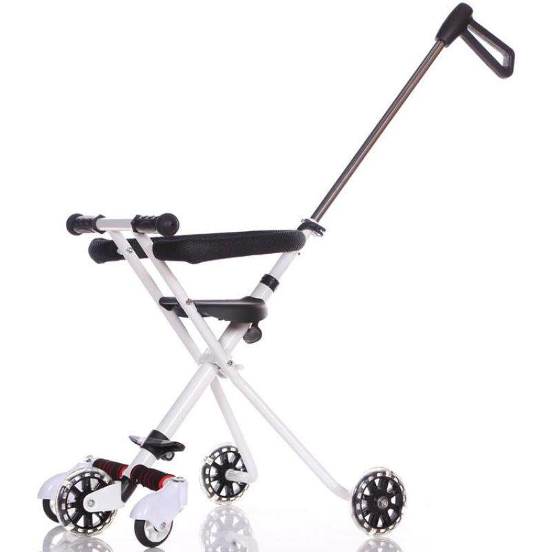 Baby 5 Wheels Trolley Bike Extra Stable Childrens Folding Portable Kids Carts Ultra-light Aluminum Kids Tricycle Stroller Compact Pram Singapore
