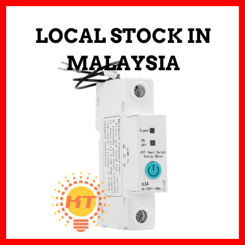 eWeLink 1P Wifi 63A Circuit Breaker with Energy Meter Power Consumption Monitoring