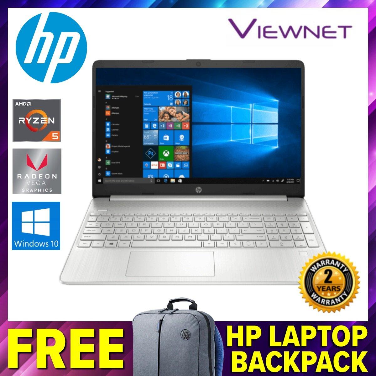 HP 15S-EQ0067AU 15.6  FHD Laptop (9WD89PA), Ryzen 5-3500U, 4GB DDR4, 512GB SSD, Radeon Vega 8, Windows 10, Natural Silver Malaysia