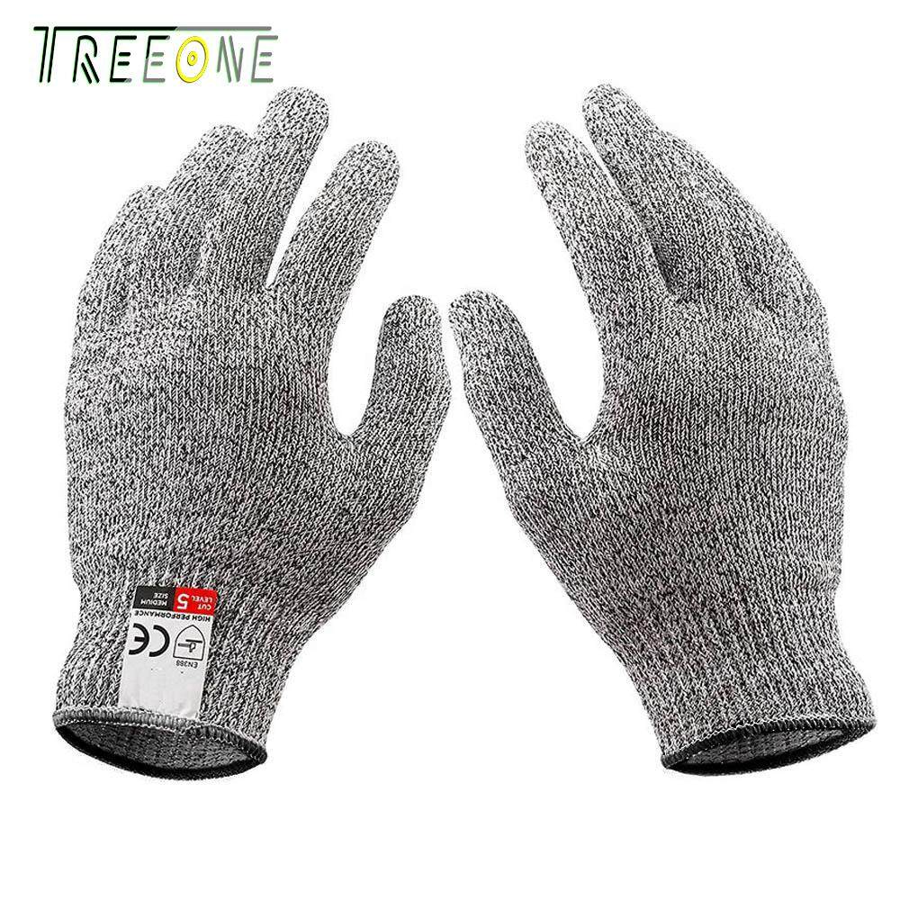Treeone Level 5 Food Grade Cut Resistant Gloves , Professional Cut-Resistant Safety Gloves
