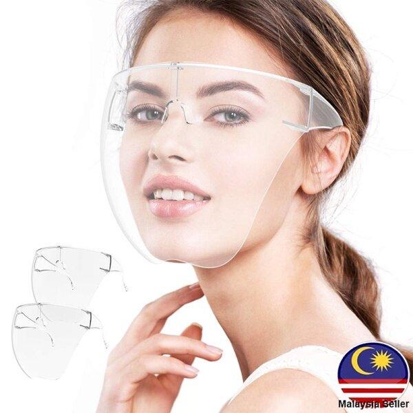 【Ready Stock In Malaysia】Transparent Face Shield Full Face Shield Protective Mask Transparent Face Mask 透明防雾面罩