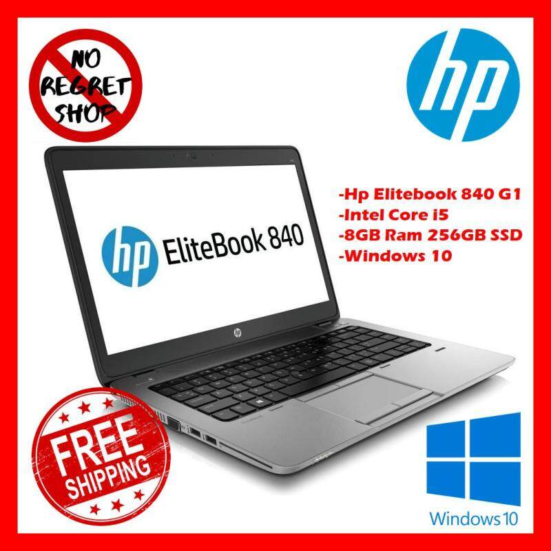 HP ELITEBOOK 840 G1 Laptops Pc Intel Core I5 8GB Ram 256GB SSD Window 10 Suitable for Business and Students (Free Bag + Free Special Cooling Fan + Free Shipping) Malaysia