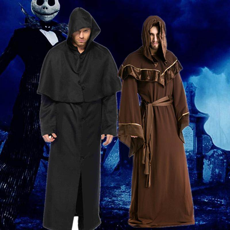 Halloween cosplay costume male wizard religious clothing devil vampire mage robe party party service