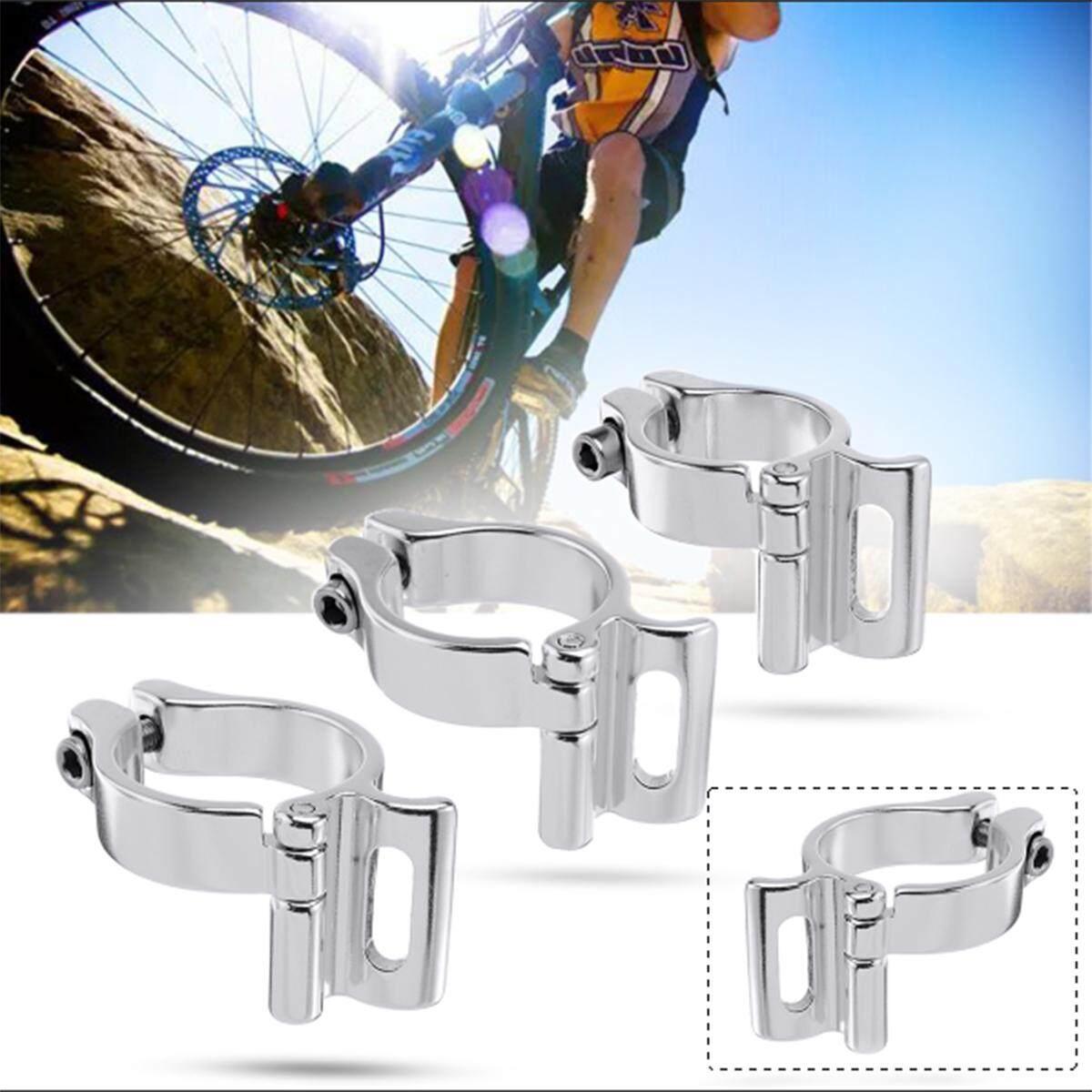 CNC Braze on Front Mech Derailleur Clamp Silver 28.6//31.8//34.9mm Lightweight !