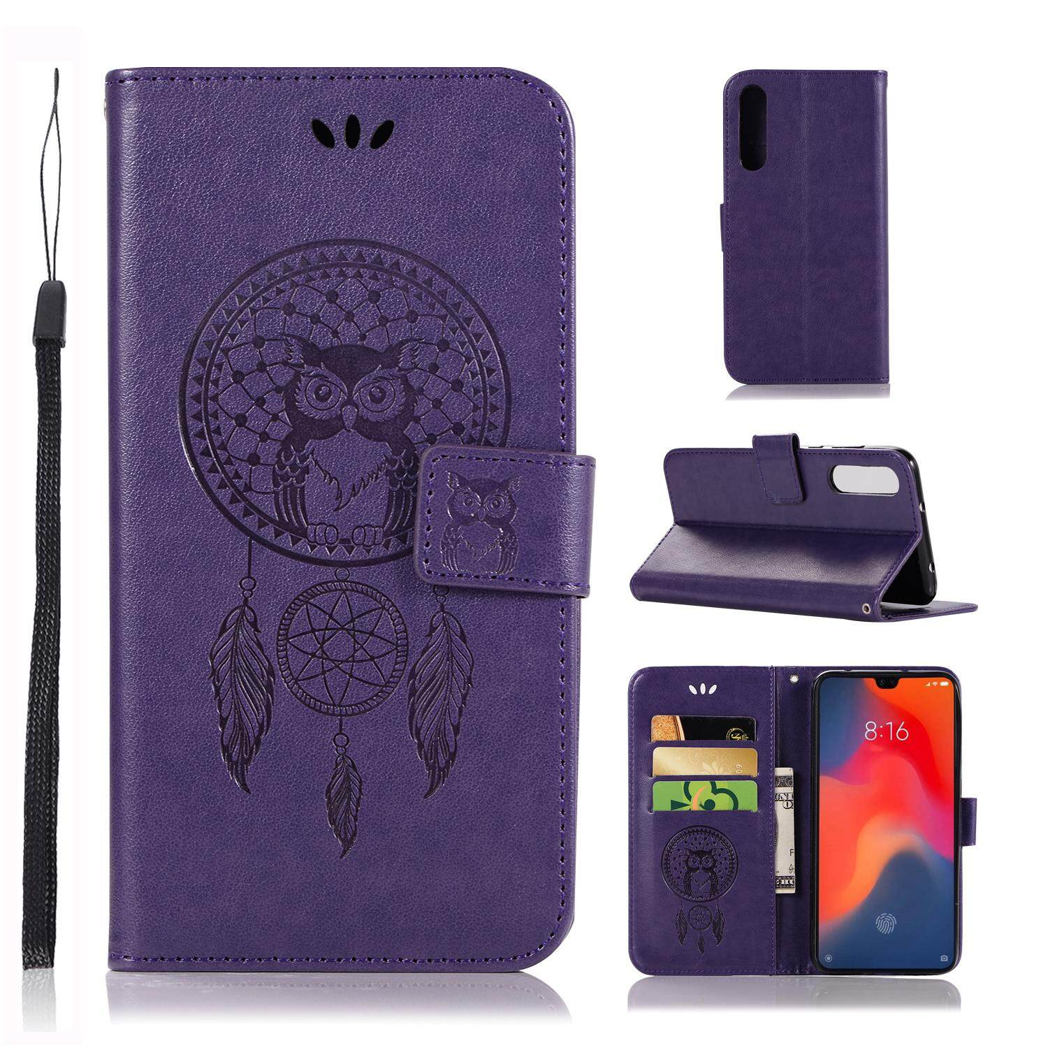 Luxury For Huawei P30 Casing , 3d Owl Embossing Leather Folio Flip Case Cover By Life Goes On.