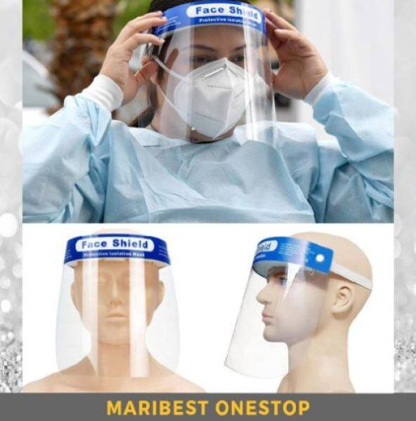 Medical Safety Face Shield Protective Isolation Full Mask Clear View Film Elastic Band Wide Vision Anti-Fog Face Screen