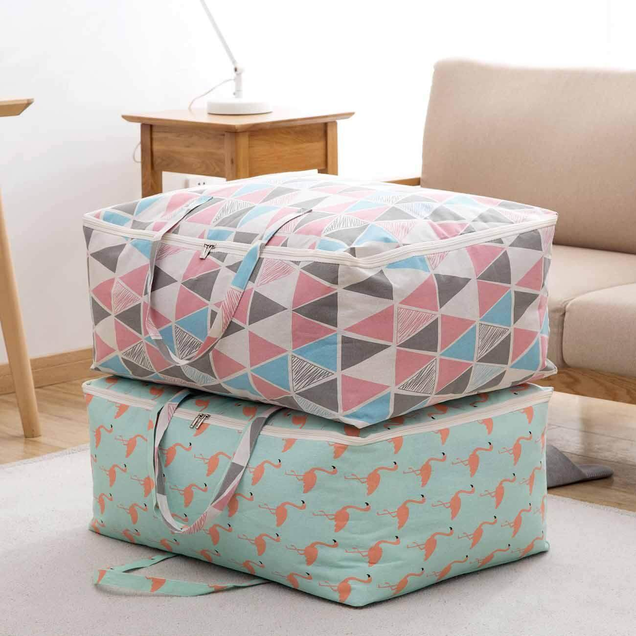 Large Storage Bag Waterproof Foldable Clothes Blanket Quilt Closet Organizer