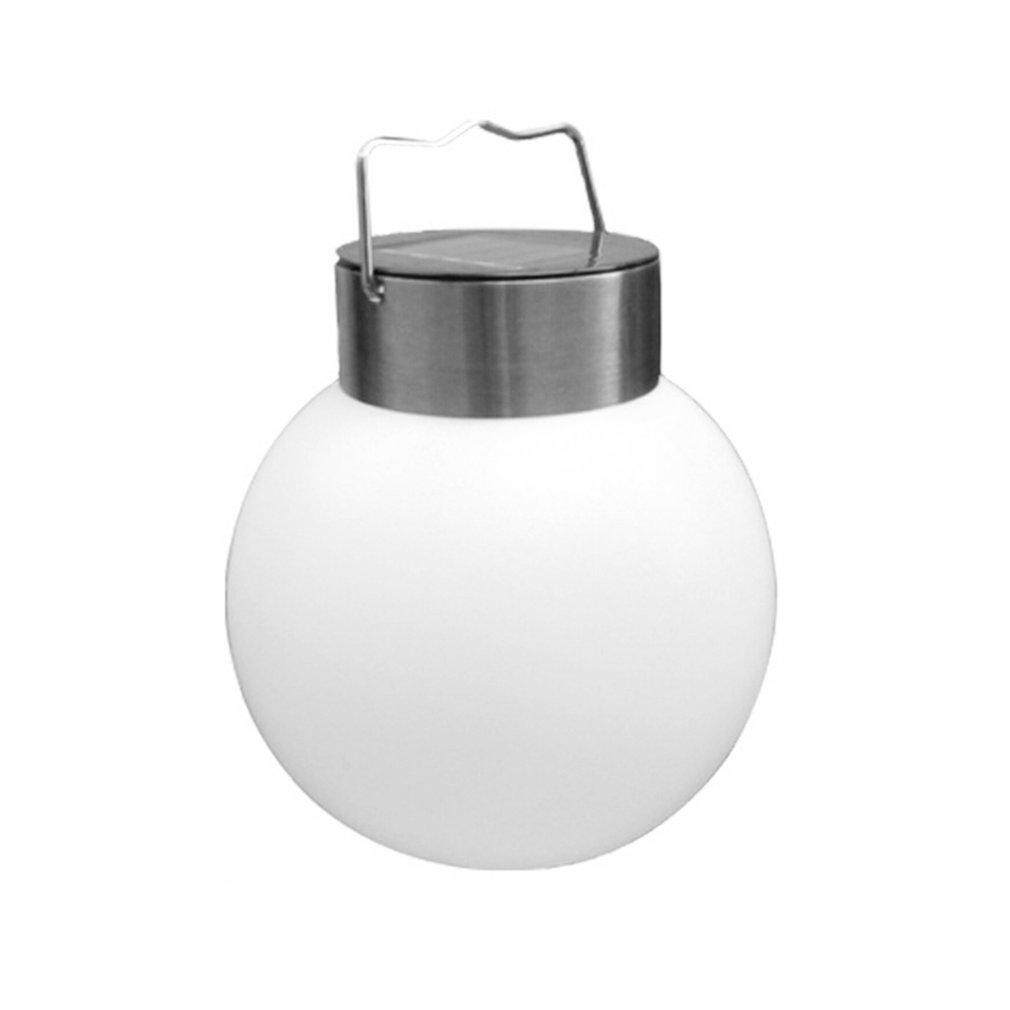 Allwin Solar Panel Powered LED Round Ball Lamp Night Light for Garden Yard Courtyard