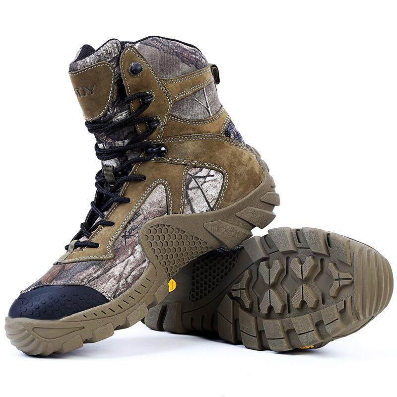 กลางแจ้ง High - Top รองเท้าบูททะเลทรายชายลื่นสวมใส่ยุทธวิธีรองเท้าปีนเขา Forces รองเท้าคอมแบต By Waterlily.