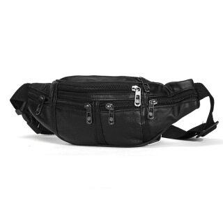 genuine leather male Waist Pack Fanny Pack men Leather Belt Waist bags phone pouch small chest messenger for man thumbnail
