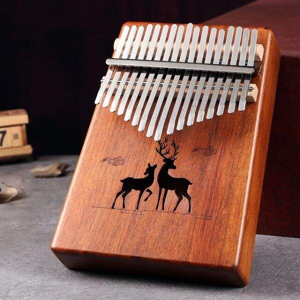 17 Key Kalimba, Ngón Tay Cái Đàn Piano, Bàn Phím Gỗ Gụ Châu Phi Sanza Mbira Chất Lượng Cao Nhạc Cụ Đàn Piano Ngón Tay Xmas Quà Tặng