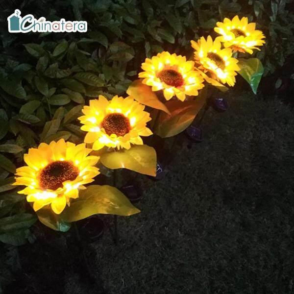 Đèn LED Năng Lượng Mặt Trời Chinatera, 2 Chiếc, Đèn Lối Đi, Sân Vườn, Đường Đi, Chống Nước, Dùng Trang Trí Chiếu Sáng