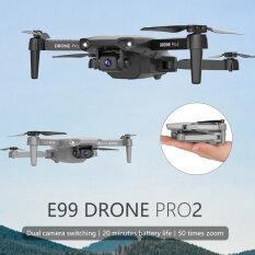 Máy Bay Không Người Lái Mini E99Pro Mới 2021 Camera HD 4K1080P Áp Suất Không Khí Fpv WiFi Độ Cao Keep Gray Và Black Foldable Quadcopters Đồ Chơi Máy Bay Không Người Lái RC