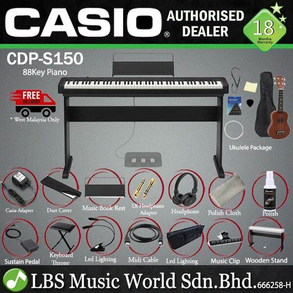 Casio CDP-S150 88 Key Digital Piano with Hammer Action Key and Chordana App (CDP150 CDPS150 CDP S150) Malaysia