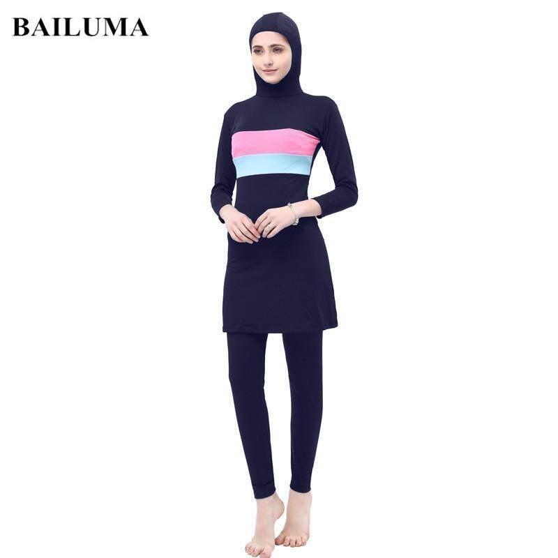 2e55f3d476c Betrare Muslimah Swimming Suit High Elastic Swimming Suit Women Muslimah  Long Sleeve Baju Mandi Muslimah
